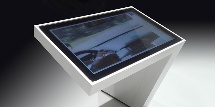Touch-Tisch xSlate Messe