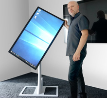 touch display with stand
